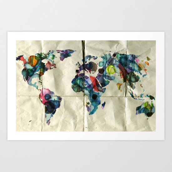 Colorful World Art Print