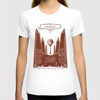 literary T-shirts featuring The Library - Your Ultimate Literary Destination by futuristicvlad
