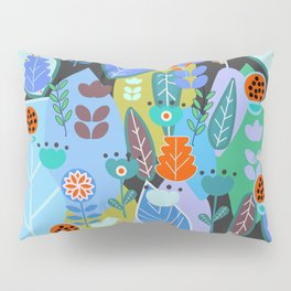 Midnight joyful inflorescence Pillow Sham