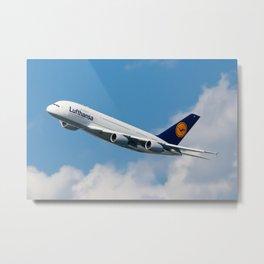 Lufthansa A380  Metal Print