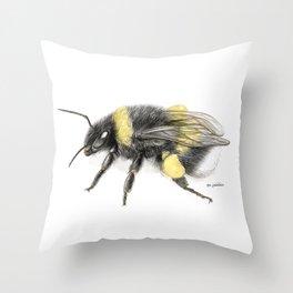 White-tailed bumblebee Throw Pillow