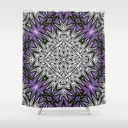 Purple Tribal Shower Curtain