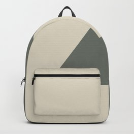 Green Buff Tan Minimal Triangle Design 2021 Color of the Year Contemplative Bleached Pebble Backpack