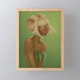 Faun girl Framed Mini Art Print