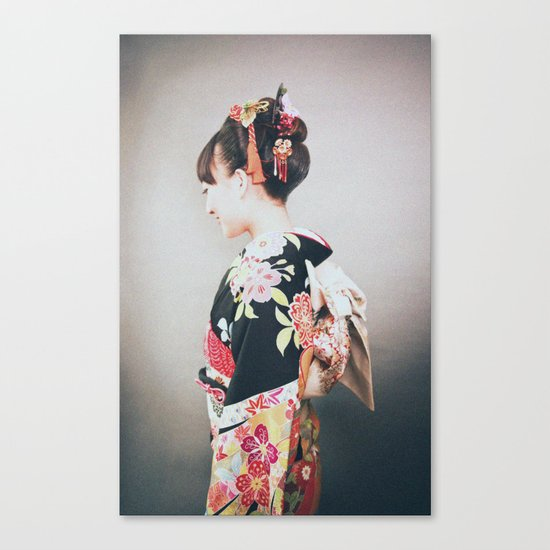 Woman japanese style Canvas Print