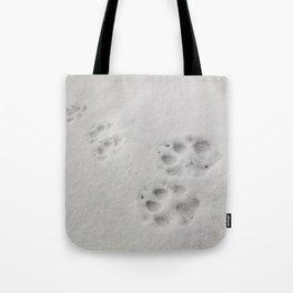 Yellow Stone - Wolf Tracks Tote Bag