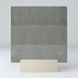 """Spring light grey horizontal lines"" Mini Art Print"