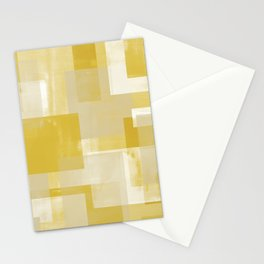 Modern Abstract No. 19 | Citron Stationery Cards