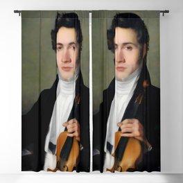 Portait of young Niccolò Paganini Blackout Curtain