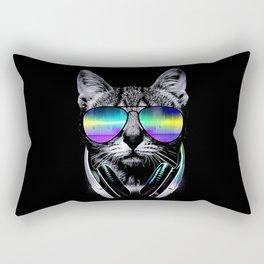 Dj Cat Rectangular Pillow