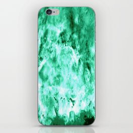 Sea Green Nebula Waves iPhone Skin