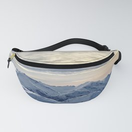 Beautiful Winter Snowy Mountains Fanny Pack