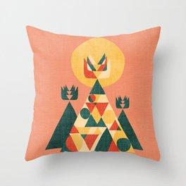 Sunset Tipi Throw Pillow