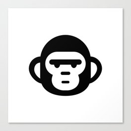 The grumpiest monkey. Canvas Print