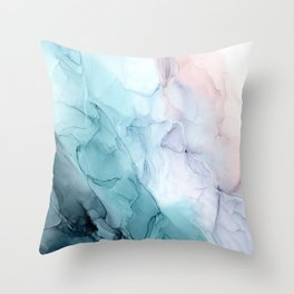 Beachy Pastel Flowing Ombre Abstract Throw Pillow