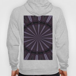 Eggplant and Pale Aubergine Abstract Floral Pattern Hoody