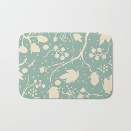 Seamless Pattern with berries Bath Mat