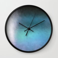 Abstract Square - blue Wall Clock