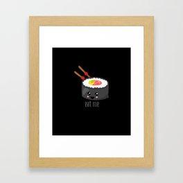 Eat Me in black Framed Art Print