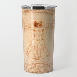 Da Vinci's Vitruvian Man Travel Mug