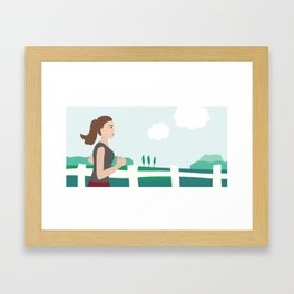 Fresh Air Runner Framed Art Print