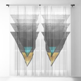 Downbeat Ode to Jazz Modern Minimalism Sheer Curtain