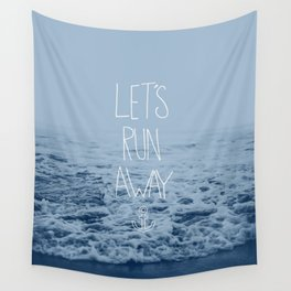 Let's Run Away: Ocean Wall Tapestry