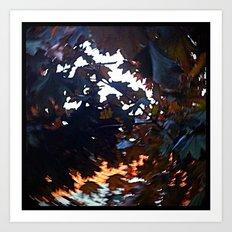 'WINDY LEAVES' Art Print