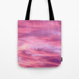 Pink Lavender Clouds Tote Bag