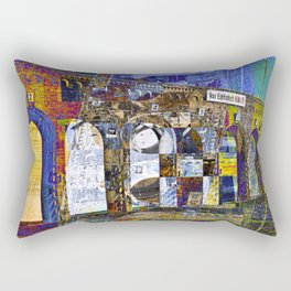 City Facade of Berlin Rectangular Pillow