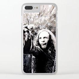Ronnie James Dio Portrait Art Clear iPhone Case