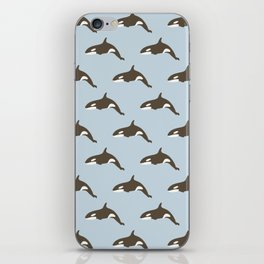 Whale Abstract Design iPhone Skin