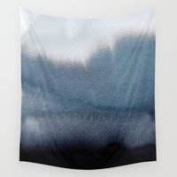 georgiana paraschiv Wall Tapestries featuring In Blue by Georgiana Paraschiv