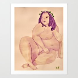 Fat Aphrodite Art Print