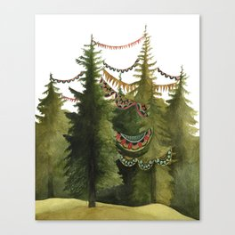 In the Quilted Forest // Jess Polanshek Canvas Print