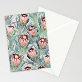 Pale Painted Protea Neriifolia Stationery Cards