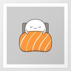 sleepy sushi Art Print