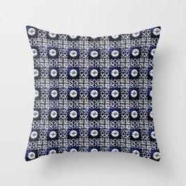 Azulejo VII - Portuguese hand painted tiles Throw Pillow