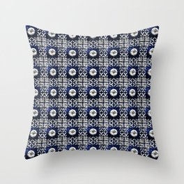 Azulejo VII - Portuguese hand painted tiles Throw Pillow