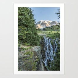 Early Morning at Myrtle Falls Art Print