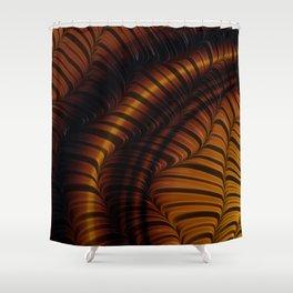 Autumn Fractal Shower Curtain