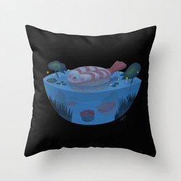 Sushi Fish Night Throw Pillow