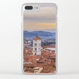 Aerial View Historic Center of Lucca, Italy Clear iPhone Case