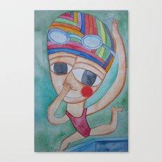 On the verge Canvas Print