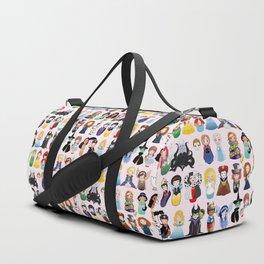 Cute kokeshis fairy tales Duffle Bag