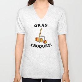 Okey Croquet Unisex V-Neck
