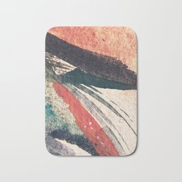 Thunder&Lightning {3}: Minimal watercolor abstract in pinks, blues, and greens Bath Mat