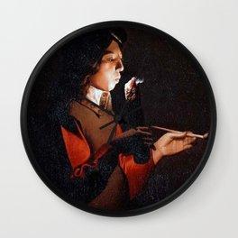Georges de La Tour - Smoker Wall Clock