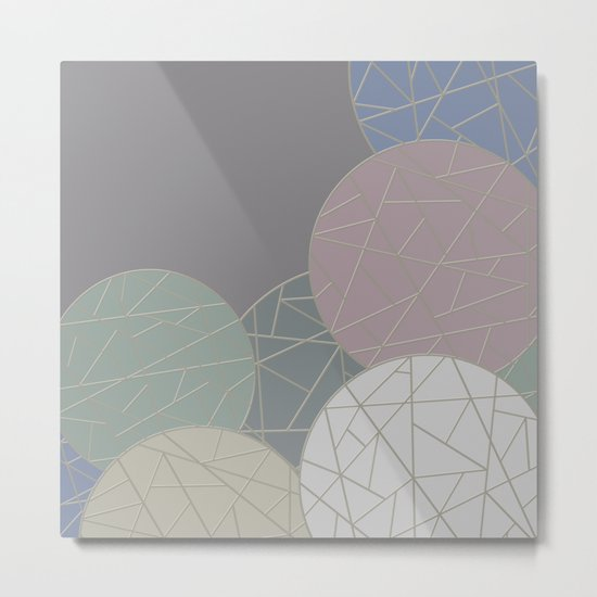 THE WORLD IS ROUND (abstract) Metal Print