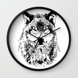 Wolf Eyes Wall Clock